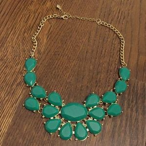 Kelly green statement necklace